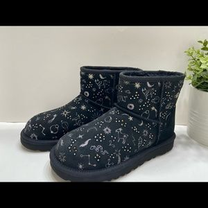NEW UGG Classic Zodiak Mini Suede Fur Ankle Boots